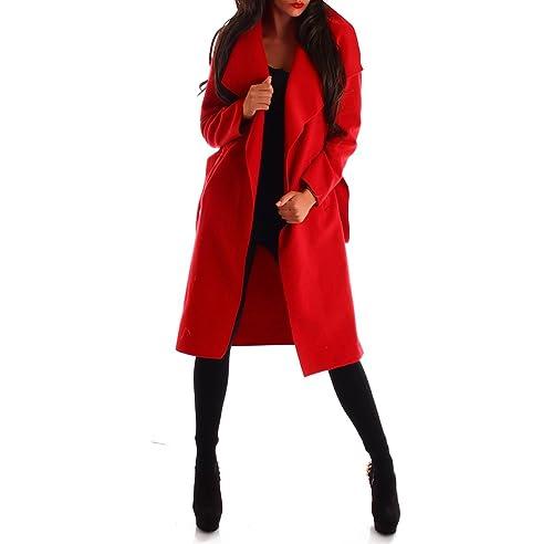 Mujer Abrigo trenchcoat con cinturón One Size largo