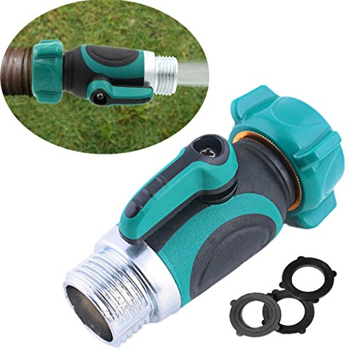 Gate Valve Adapter - LiPing Garden Hose to Shut Off Valve Connect Outside Spigot Friendly Faucet Extension - link Faucets Durable Use Free to Close Valves or Open Valves (A)