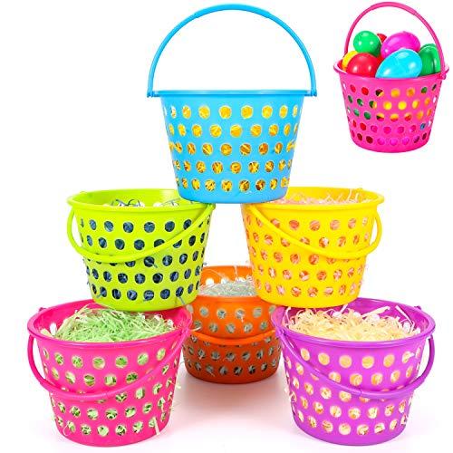 (6 Pack Easter Eggs Baskets for Kids,9.4