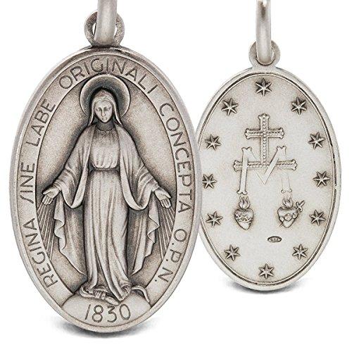 Médaille Miraculeuse. Pendentif, médaillon médaillon/Argent 925/10005.6Grammes. Fait main argent médailles