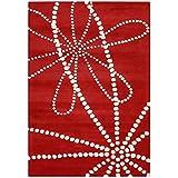 Alliyah Handmade Red New Zealand Blend Wool Rug (9  x 12 )