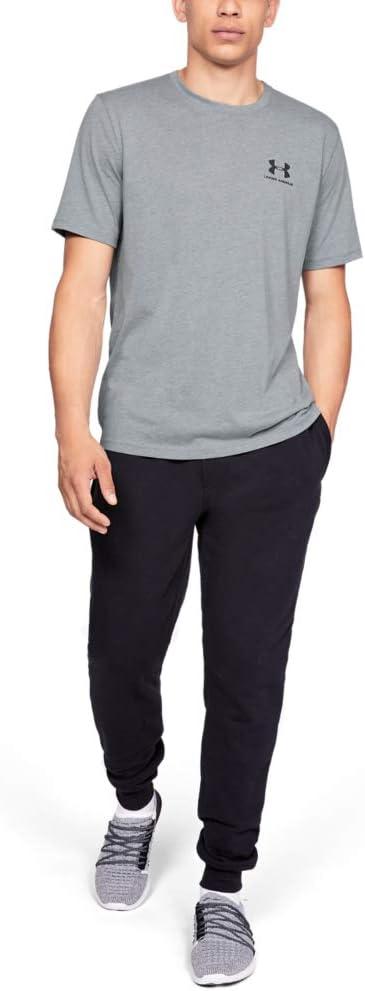 Hombre Under Armour Sportstyle Left Chest Camiseta de Manga Corta S Gris Steel Light Heather-036