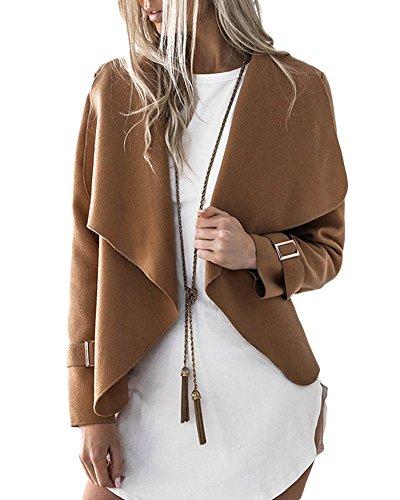 Longues Large Blazer Femme Asym Lapel Manches CnPxqv65