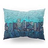 Society6 Boston City Skyline Pillow Sham Standard (20'' x 26'') Set of 2