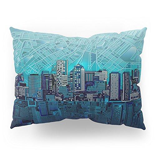 Society6 Boston City Skyline Pillow Sham Standard (20'' x 26'') Set of 2 by Society6
