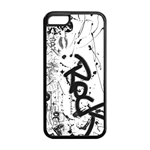 Hard Rubber Special Design iPhone 5c Cover Rock Music Case for iPhone 5c