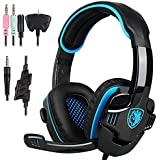 SADES SA-708 GT Stereo Gaming Headset Over Ear Computer Headphone with Mic for Laptop PC/Mac/XBOX/PS4/Phones/iPhone