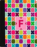 Rikki Knight Letter F Monogram Vibrant Hot Pink Edgy Mosaic Design Faux Leather Case for Apple iPad Mini (Not for iPad Mini 4)