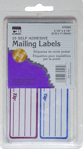 amazon com charles leonard mailing labels self adhesive 2 5 x