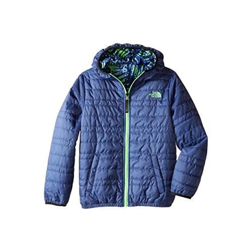cheap The North Face Kids Reversible Perrito Peak Jacket Little Kids/Big Kids Pelagic Blue Boy's Coat