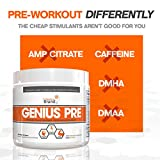 Genius-Pre-Workout–All-Natural-Nootropic-Preworkout-Powder-Caffeine-Free-Nitric-Oxide-Booster-with-Beta-Alanine-and-Alpha-GPC-Focus-Energy-and-Muscle-Building-Supplement-Grape-Limeade-354G