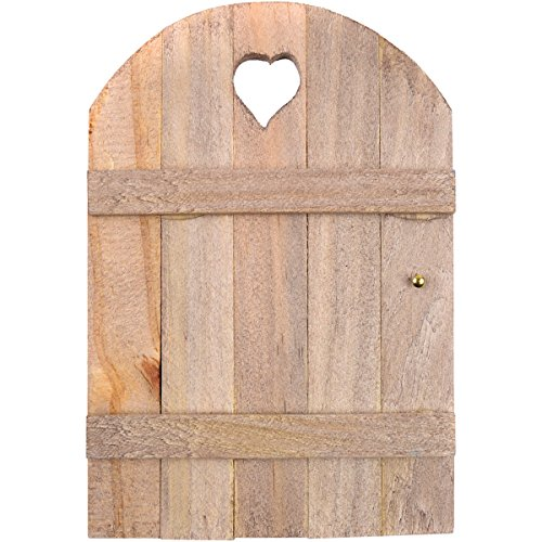 Touch of Nature Mini Fairy Garden Wooden Door, 6 by 4-Inch, (Gnome Door)
