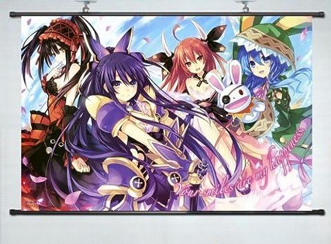 Home Decor Japanese Anime Wall Scroll Poster Date A Live Tokisaki Kurumi dakimakura 16
