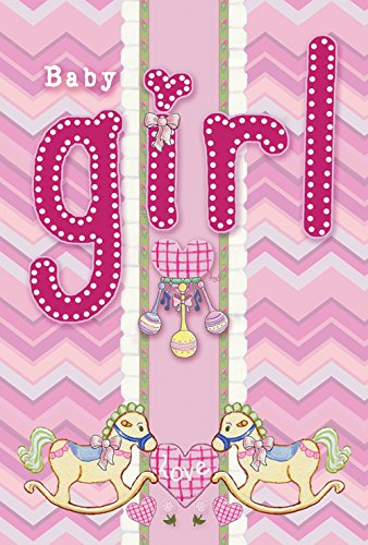Toland Home Garden It's A Baby Girl 28 x 40 Inch Decorative