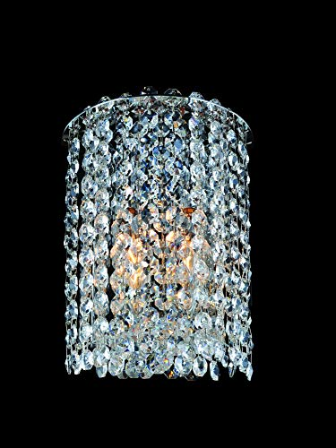 (Allegri Lighting 11660-010-FR001 Millieu-Metro 1-Light Wall Sconce with Clear Firenze Crystal, Chrome Finish )