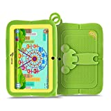 Yuntab Q88R 7 inch Kids Edition Tablet with Premium Parent Control iWawa Kids Software Pre-Installed, Android, Quad Core, 8 GB, WiFi, Bluetooth, Dual Camera, Protecting Silicone Case (GREEN)
