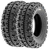 Set of 2 SunF A027 XC ATV UTV Knobby Sport Tires 22x7-11, 6 PR, Tubeless