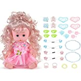 HK Lifelike Realistic Baby Doll, 16-inch Adorable Soft Washable Drink & Wet Baby Doll with Outfits, Great Dreams Gift Set & Creative Play for Toddlers & Preschoolers (Pink)