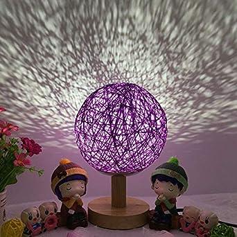 Lampe Dimmable Avec Base Rotin Night Nuit Bois Romantique En De LpqSUGMVz