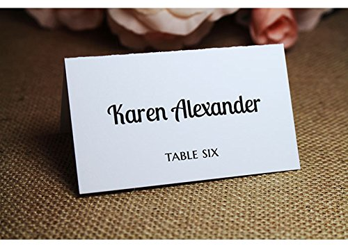 100 cotton escort cards place cards printed with your guests names choose - Printed Place Cards