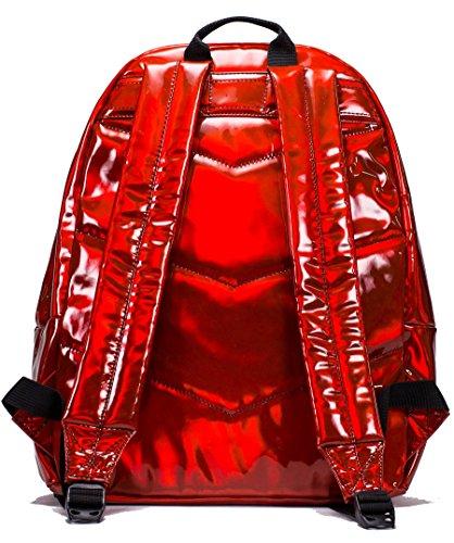 Hype Holografico Mochila Bolso - Ideal Bolsas De Escuela - mochila para niños y niñas Rojo