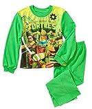 Ninja Turtles Big Boys' 2 Piece Flannel Pajamas Set Green (10-12)