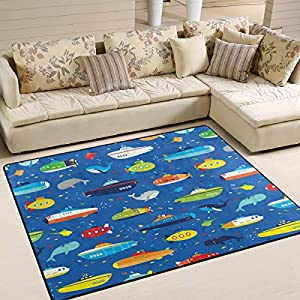 51bddwN5AkL._SS300_ Whale Area Rugs & Whale Runners