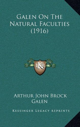 Galen On The Natural Faculties (1916) PDF