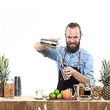 DDLbiz 2PCS Stainless Steel Cocktail Boston Shaker Mixing Cup Drink Bartender Bar Set Tool (800/600ml)