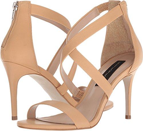 (STEVEN by Steve Madden Women's NEY Heeled Sandal, Nude Leather, 7.5 M)