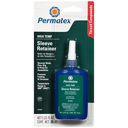 Permatex 64040-6PK High Temperature Sleeve Retainer, 36 ml (Pack of 6) by Permatex