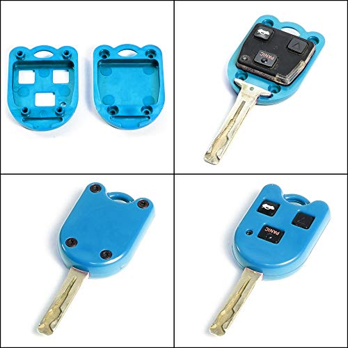 STAUBER Best Lexus Key Shell Replacement - HYQ1512V, HYQ12BBT - NO LOCKSMITH REQUIRED! Save money using your old key chip! - Blue