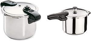 Presto 01370 8-Quart Stainless Steel Pressure Cooker & 01362 6-Quart Stainless Steel Pressure Cooker
