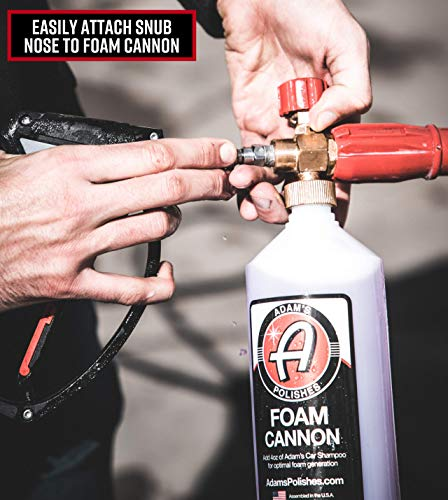 Adam's Red Foam Cannon - Produces Unbelievably Thick Foam - Adjustable Air Intake Valve and Fan Pattern for Optimal Car Washing (Foam Cannon & Snub Nose Combo) by Adam's Polishes (Image #5)