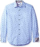 Robert Graham Men's Kinderhook Classic Fit Shirt, Blue, XLarge