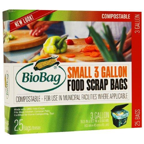 3 x BioBag Small 3 Gallon Food Scrap Bags, 25 ea by BioBag
