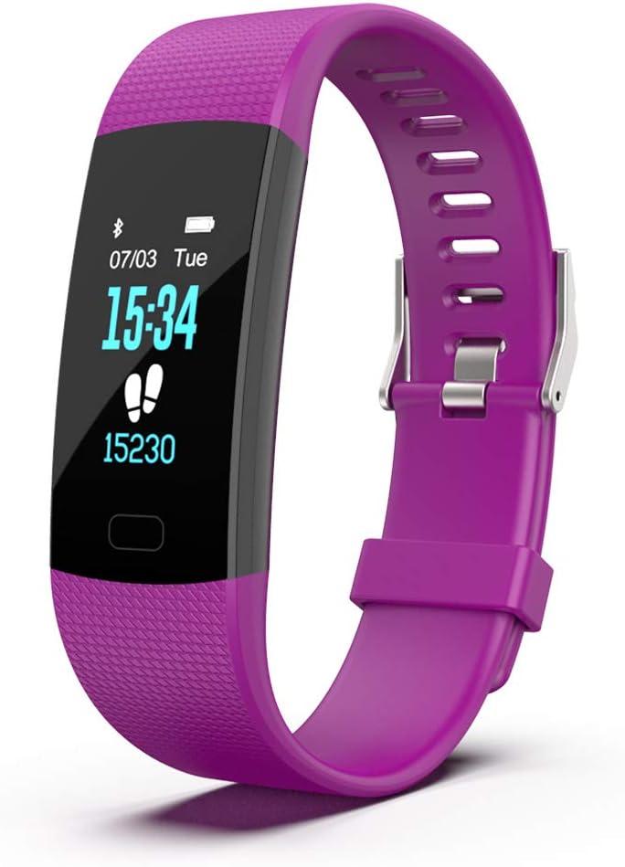 HUIJIN1 Reloj Inteligente, Reloj rastreador de Fitness con GPS Bluetooth frecuencia cardíaca monitoreo del sueño equitación Correr Caminar, a Prueba de Polvo natación Impermeable