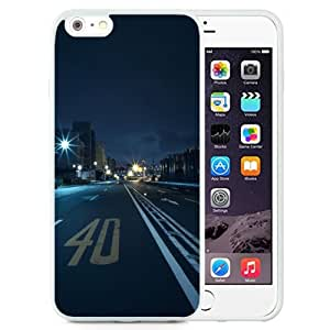 Unique and Attractive TPU Cell Phone Case Design with Japan Tokyo Street Racing Night iPhone 6 plus 4.7 inch Wallpaper in White