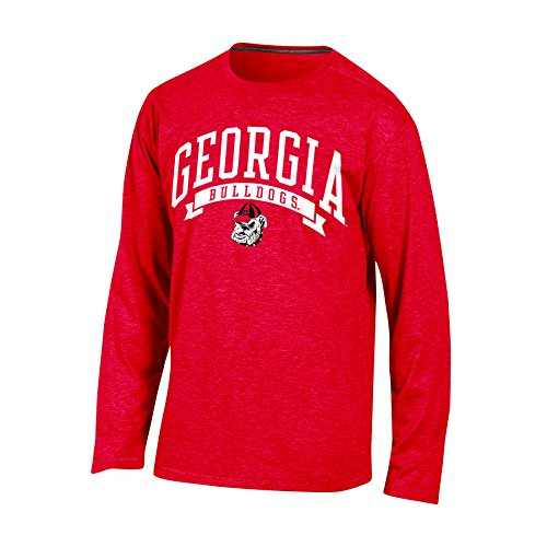 Champion (CHAFK) Adult NCAA Champion Men's in Pursuit Long Sleeve T-Shirt, Red Heather, Large