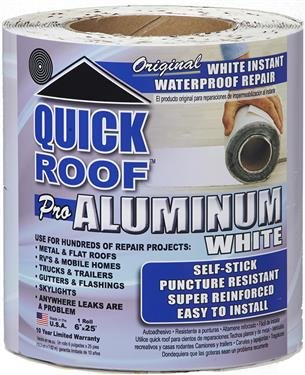 Cofair Products WQR625 6'' X 25' White Quick Roof Tape (Quantity 6)