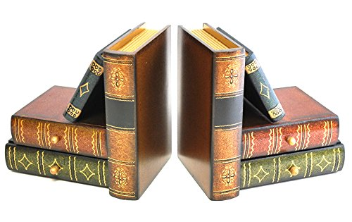 """Royal Brands Classic Wooden Book Bookends With Hidden Drawers - Book Stand - Set of 2 - Bookshelf Bookends - (6"""" x 4"""" x 6"""") by Royal Brands"""