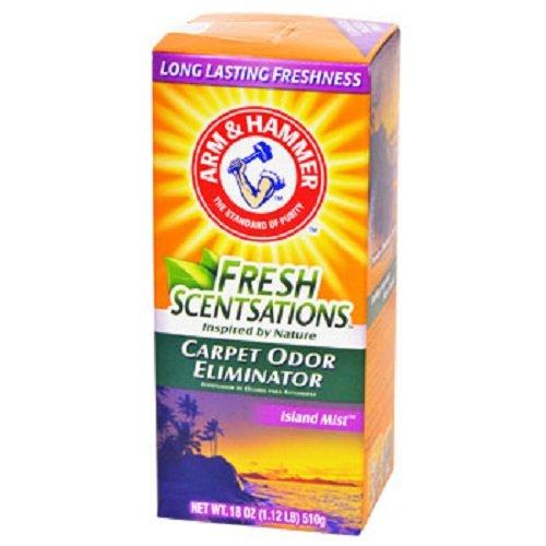 Arm & Hammer Fresh Scentsations Island Mist Carpet Odor Eliminator, 18-oz. Boxes - 12 per - Carpet Freshening Powder