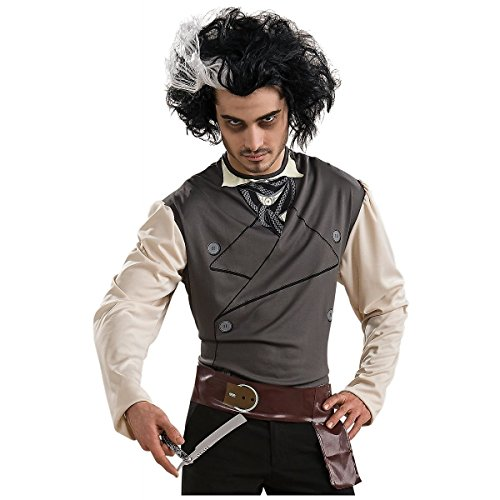 Sweeney Todd Costume Kit with Wig Belt Razor Scary Halloween Dress