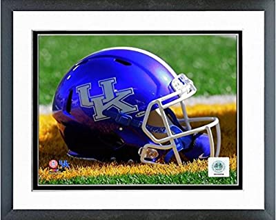 "Kentucky Wildcats Football Helmet Photo (Size: 12.5"" x 15.5"") Framed"