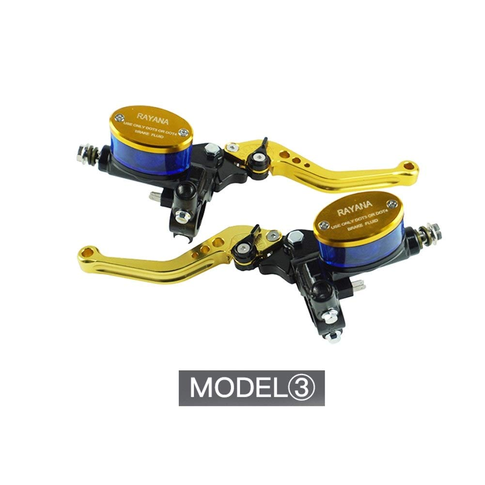 C.W.EURJ 7//8  22 mm Motocicleta Palancas de Freno Dep/ósito del Cilindro Maestro Manija de Embrague hidr/áulico Mango para H o n d a Yamaha Color : Azul
