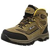 Hi-Tec Kids Unisex Hillside Waterproof Trail Boots (6 US) (Smokey Brown/Gold)
