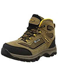 Hi-Tec Kids Unisex Hillside Waterproof Trail Boots (6 US) (Smokey Brown/Gold)