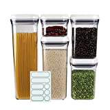 OXO Good Grips 5-Piece Airtight POP Container Set with 5 Labels