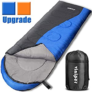 VINIPER Sleeping Bag Comfort Envelope Sleeping Bag Waterproof And Lightweight With Compression Sack Perfect For 4 Season Traveling Camping Hiking Outdoor Backpacking Fit Adult Kid Women Men