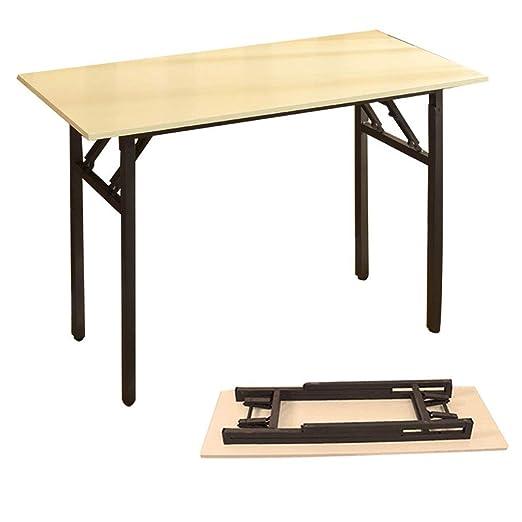 Mesa de Comedor Plegable con Soporte de Metal Negro portátil ...